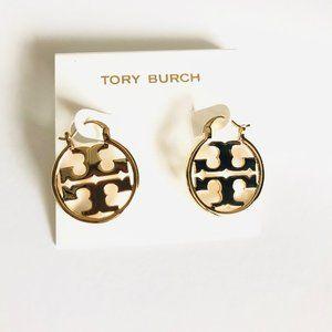 Tory Burch Miller Small Hoop Earrings Gold